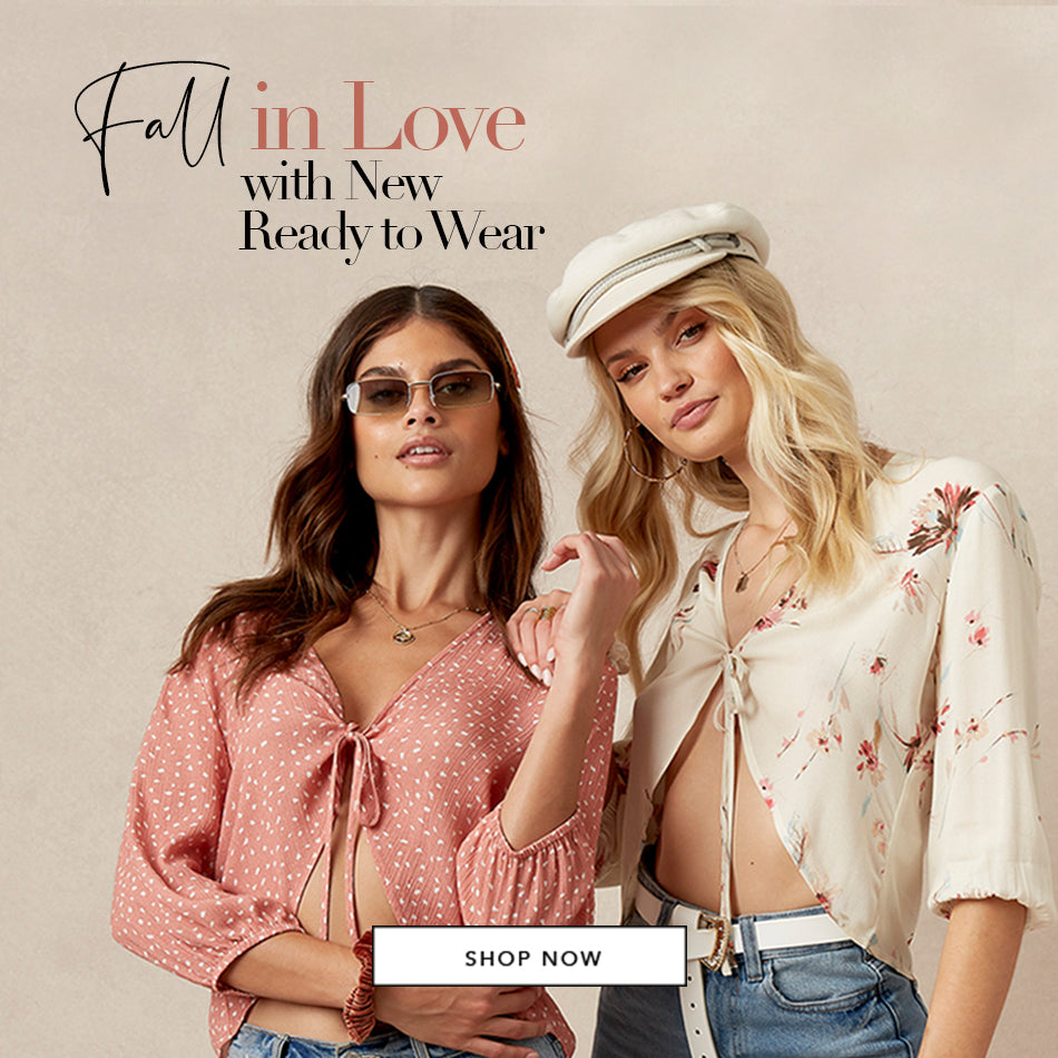 Fall in Love with New Ready to Wear - Models are wearing the Georgia Tops in Rose & Chiffon.