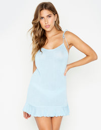 Blue Annika Beach Summer Dress - front view