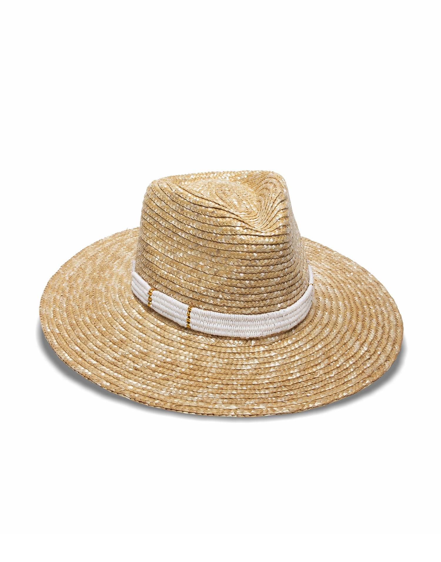Nikki Beach's Alessia Sun Hat in Natural/White - Product View