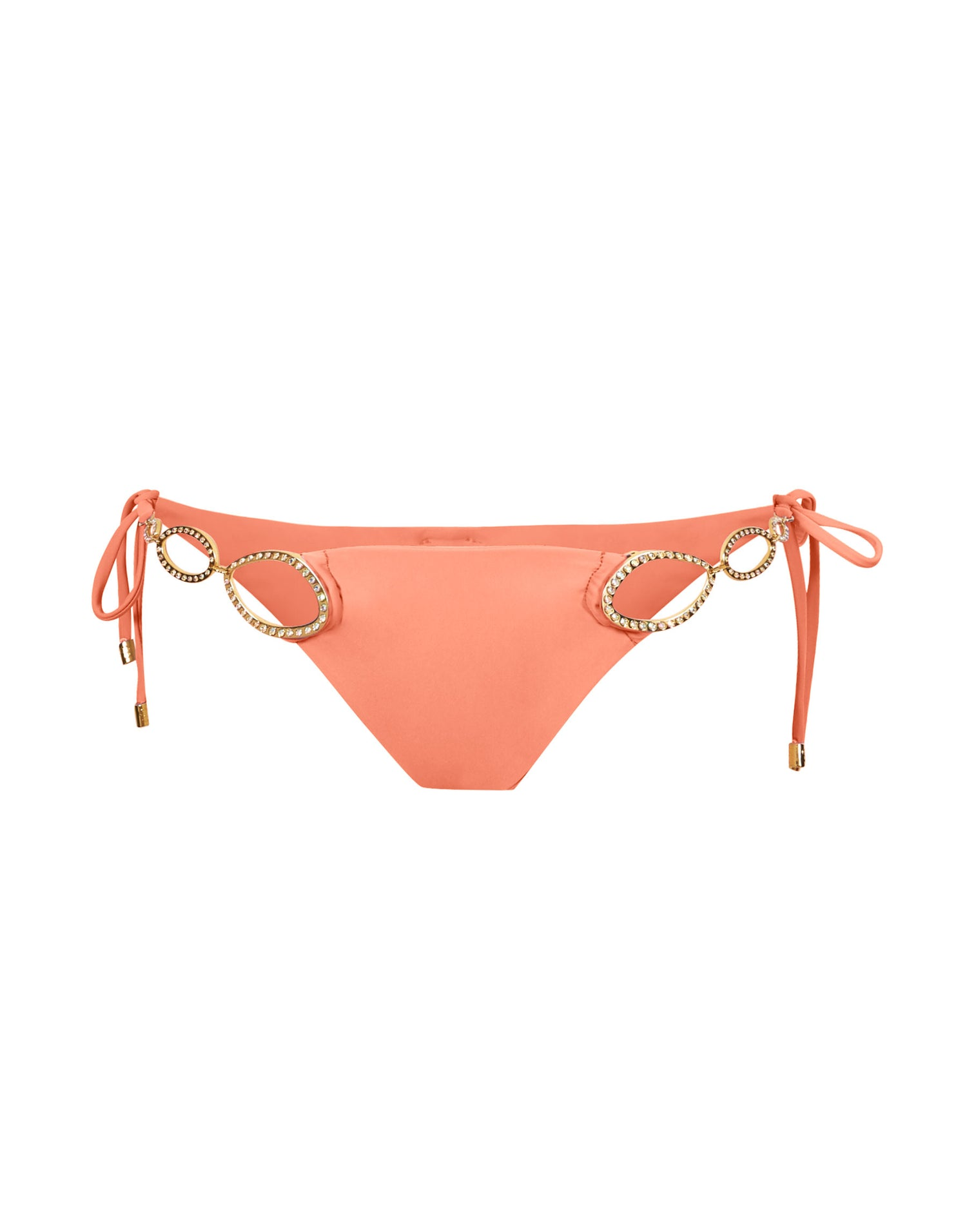 Kinsley Tie Side Bikini Bottom in Sorbet with Gold Hardware - product view
