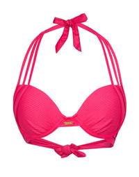 Kennedy Sexy Push Up Bikini Top in Barbie - product view