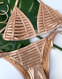 Hard Summer Tie Side Bottom - Rose Gold