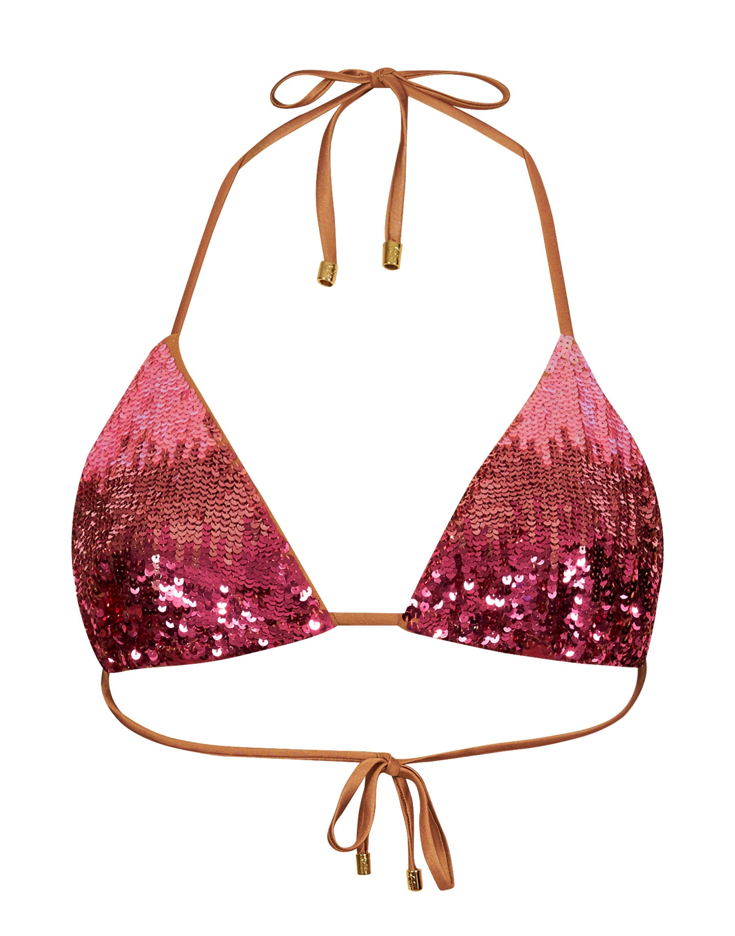 Ariel Triangle Bikini Top in Pink Ombre - product view