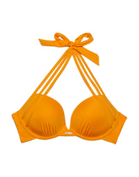 Kennedy Push Up Bikini Top in Soleil Orange - product view