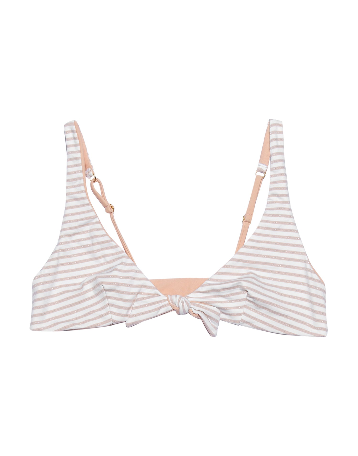 Isla Bralette in Blush Stripe Product View