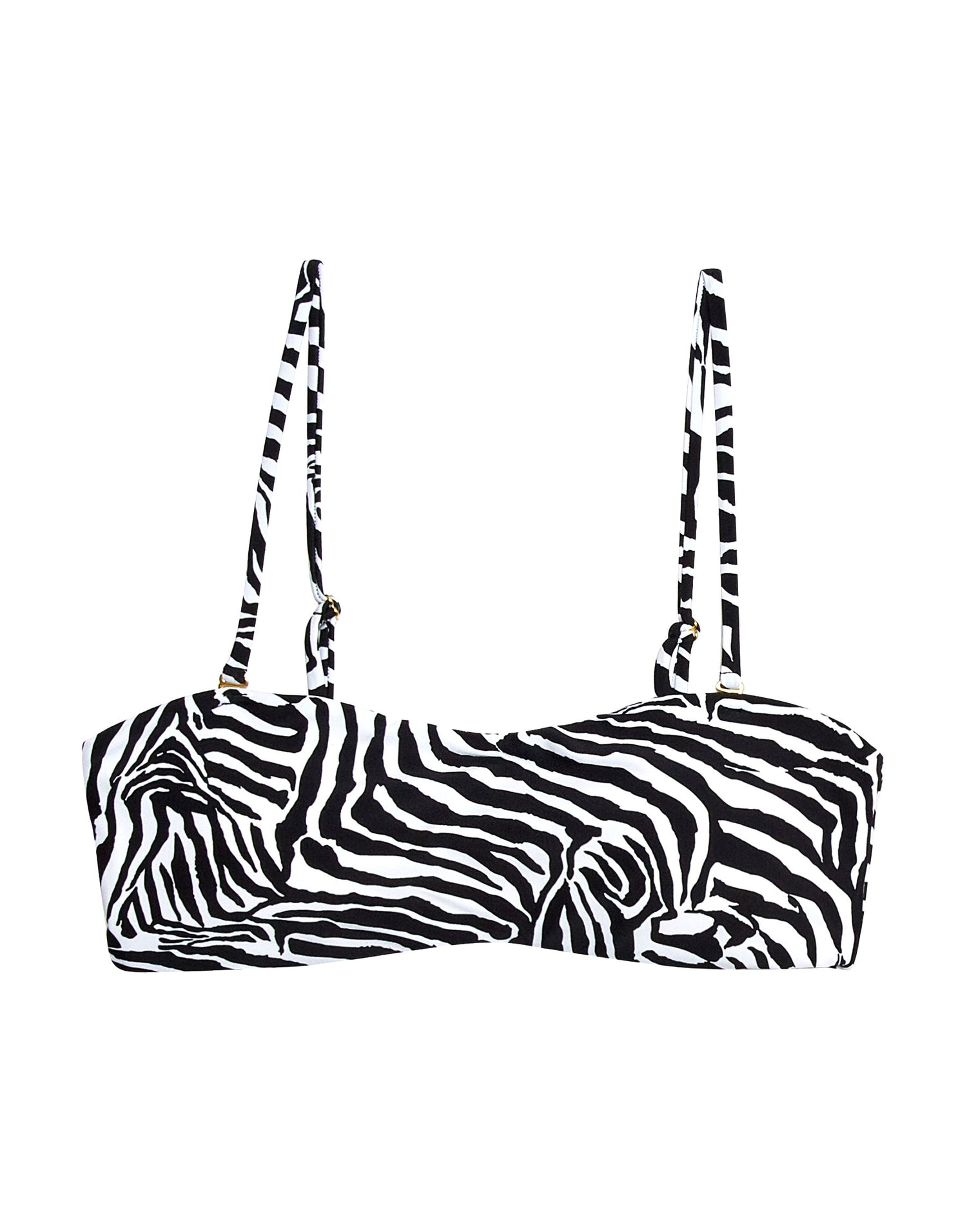 London Bralette Bikini Top in Zebra - product view