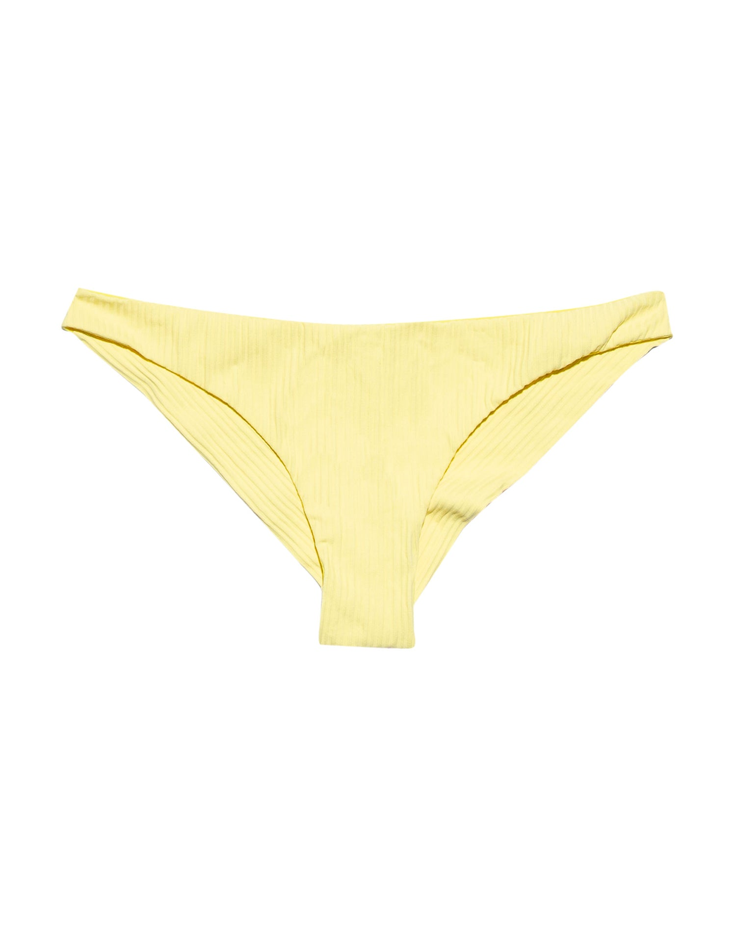 Yellow Rib Skimpy Swim Bottom - product view