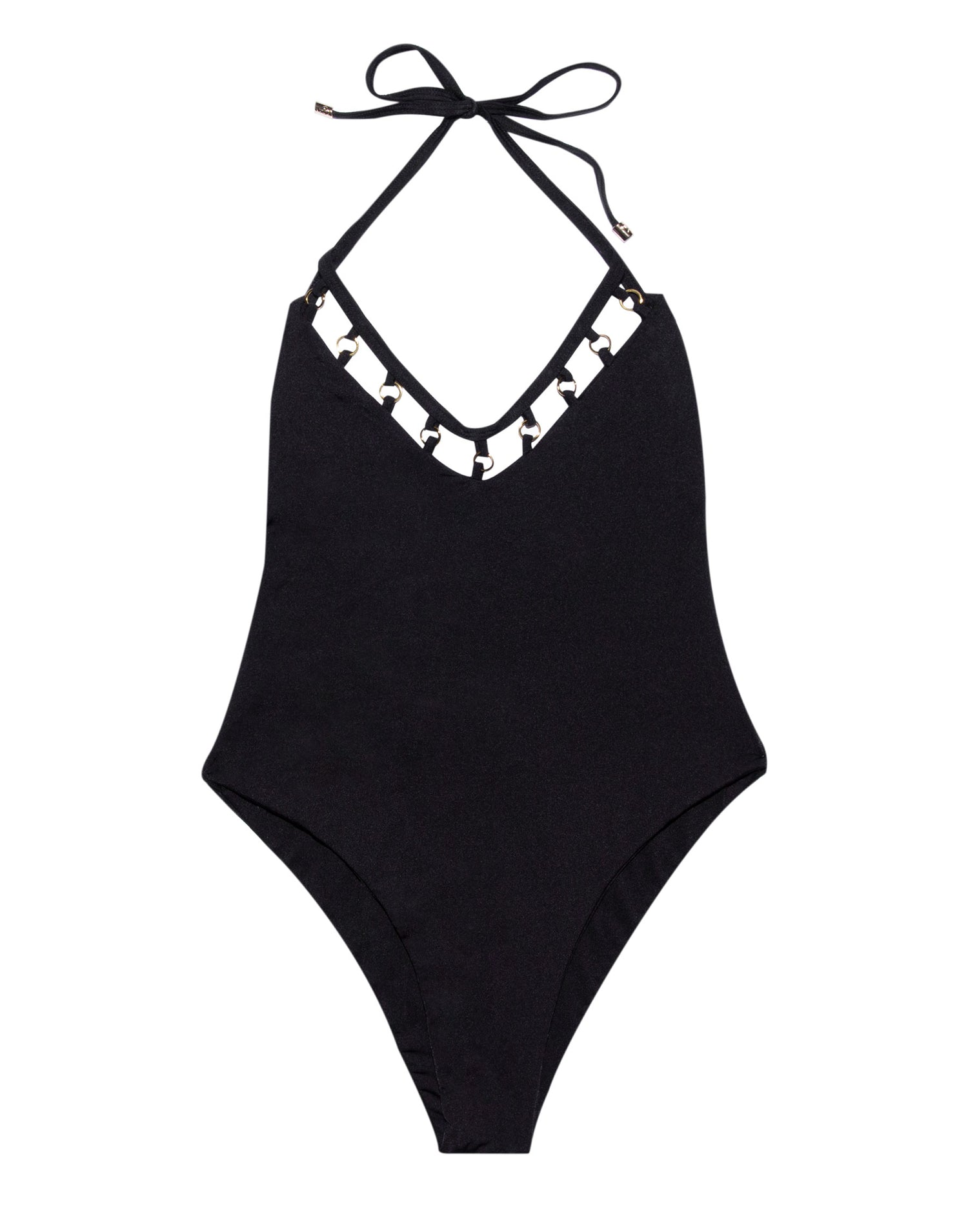 Ireland One Piece in Black Front View