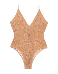 Nala One Piece in Rose Gold with Beads and Sequins - product view