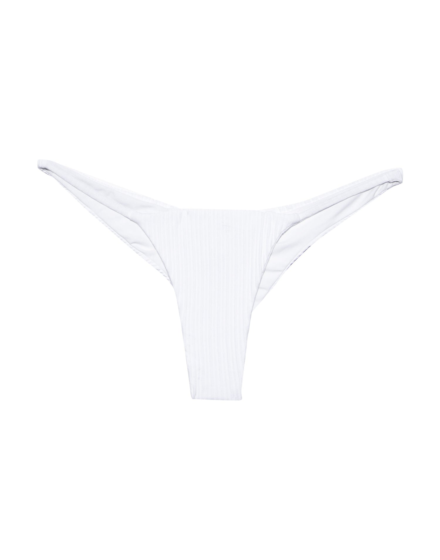 Jordan Brazilian Bikini Bottom in White Rib - product view
