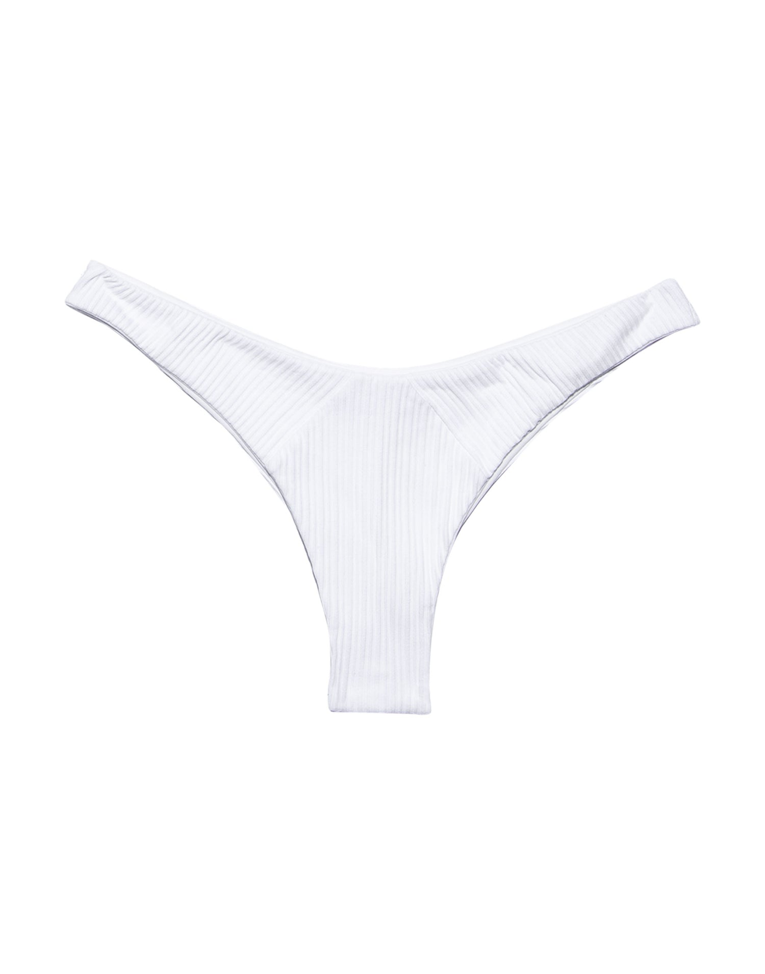 Sydney Tango Bikini Bottom in White Rib - product view