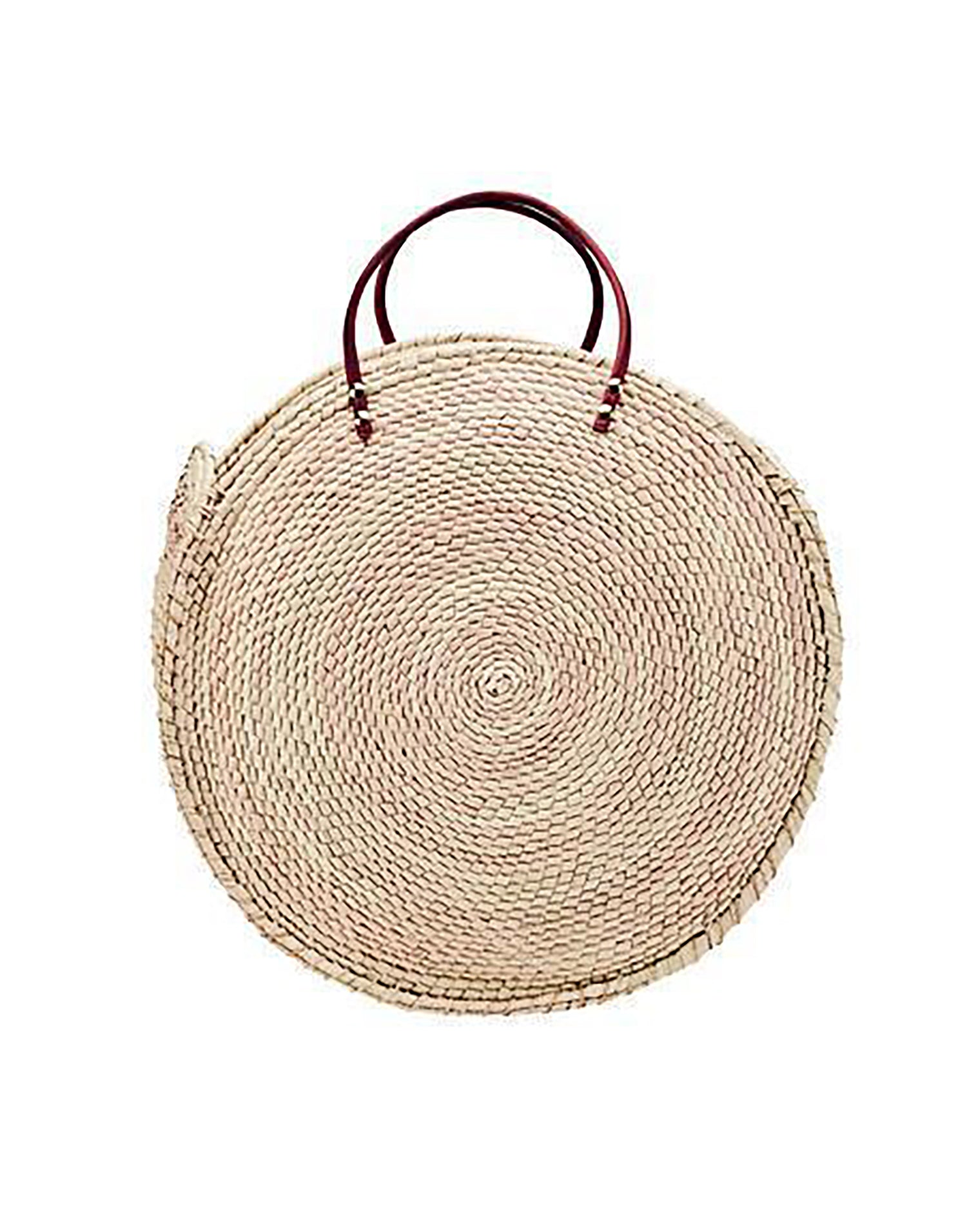 Palm Straw Crochet Tote Bag in Natural - product view