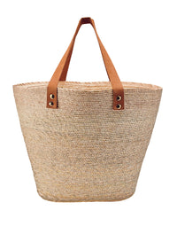 Palm Straw Bag in Natural - product view