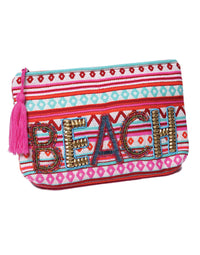Ale by Alessandra's Beach & Beyond Hand Embroidered Clutch - product view