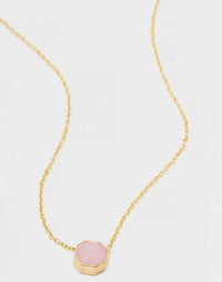 Gorjana's Power Gemstone Charm Necklace for Love in Gold - product view