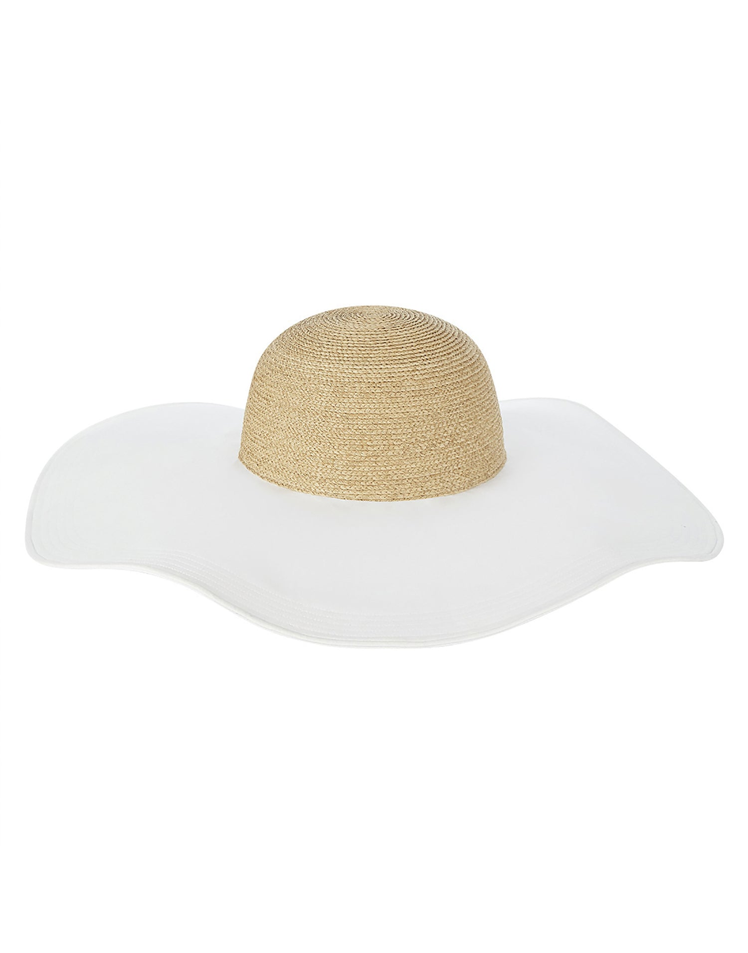 Florabella's Gretchen Sun Hat in Natural White - Product View
