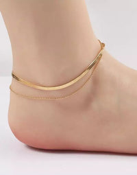 Ellison + Young's Herringbone Chain Anklet in Gold - Alternate Product View