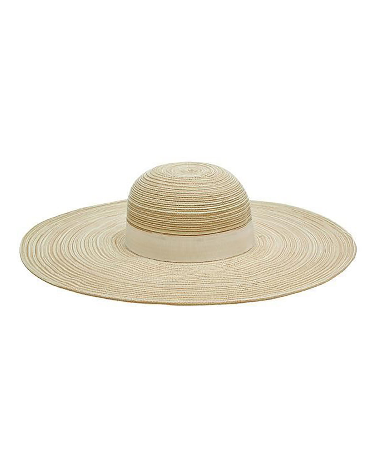 Mixed Poly Braid Sunbrim Hat in Natural - product view