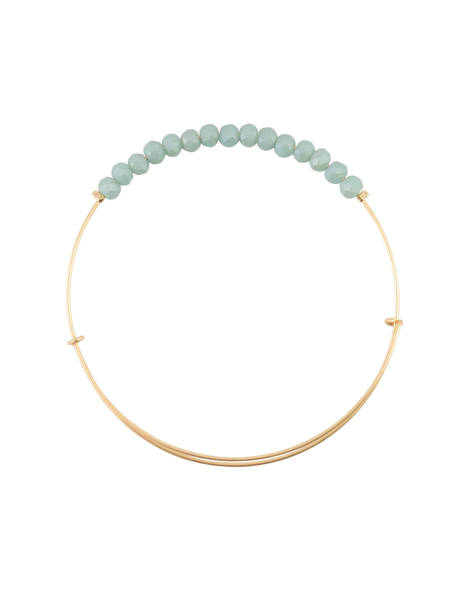 BOPS Crystal Bangle in Matte Turquoise - Product View