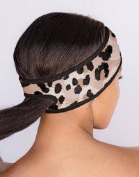 Kitsch's Microfiber Spa Headband in Leopard - Alternate Product View