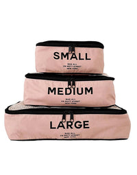 Bag-all's Packing Cubes Set of 3 in Pink - Product View