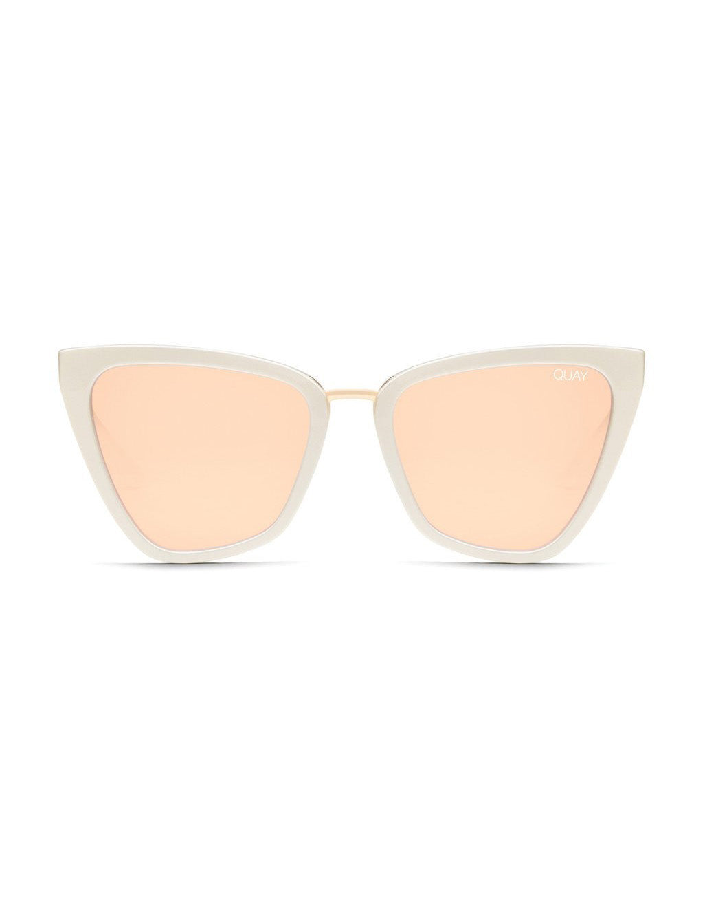 Quay Australia Reina Sunglasses in Pearl/Rose - product view