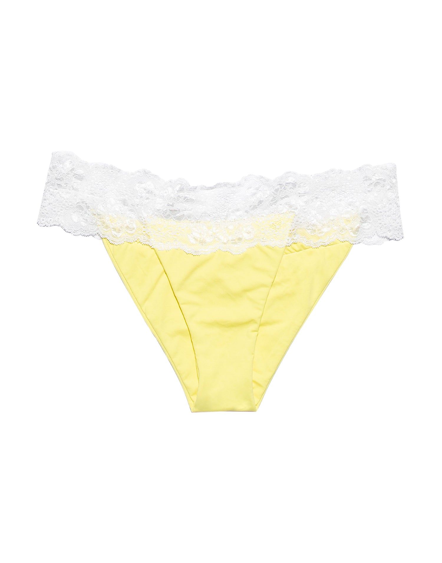 Lady Lace Skimpy Bikini Bottom in Lemon Yellow - product view