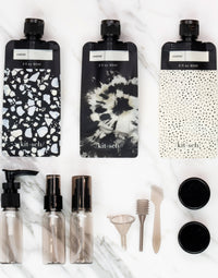 Kitsch's Refillable Ultimate Travel 11pc Set in Black/Ivory - Alternate Product View