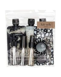 Kitsch's Refillable Ultimate Travel 11pc Set in Black/Ivory - Product View
