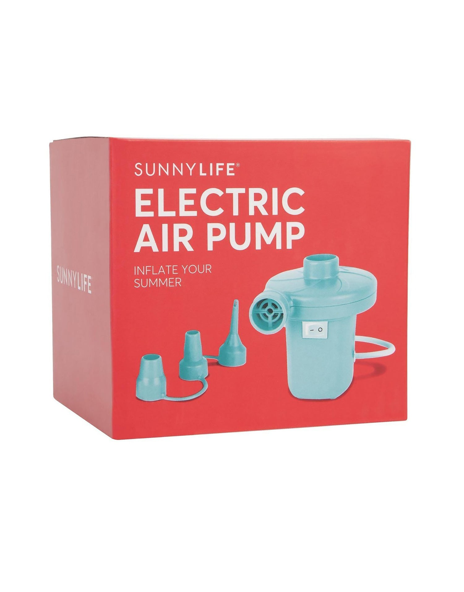 Electric Air Pump Front View with Box
