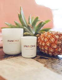 Small Ipanema Scented Candle with Large Candle