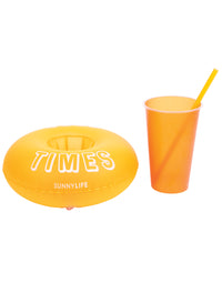 Inflatable Party Drink Holders - Set of 2 Orange