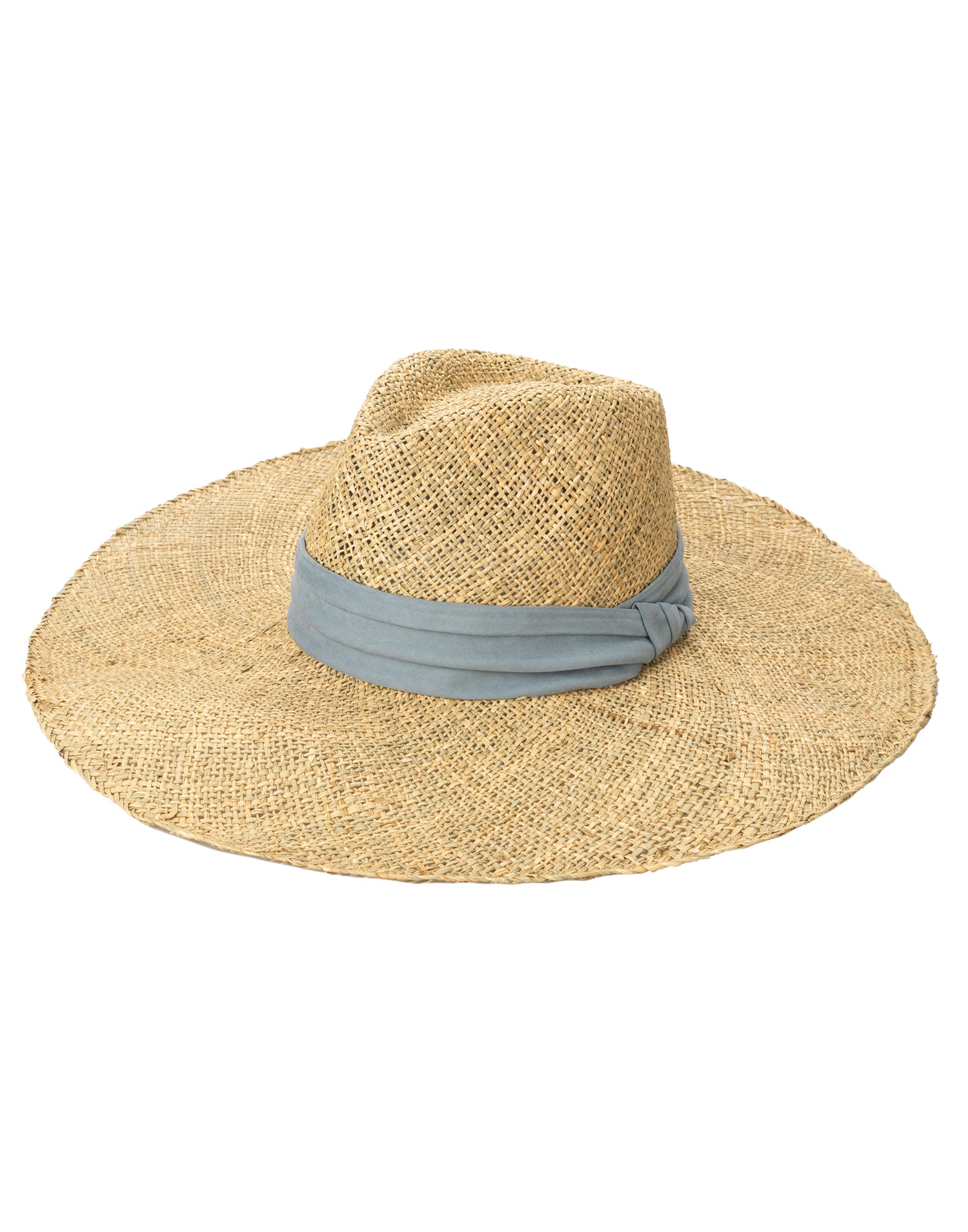 San Diego Hat Company's Floppy Fedora in Natural with Faux Suede Band - Product View