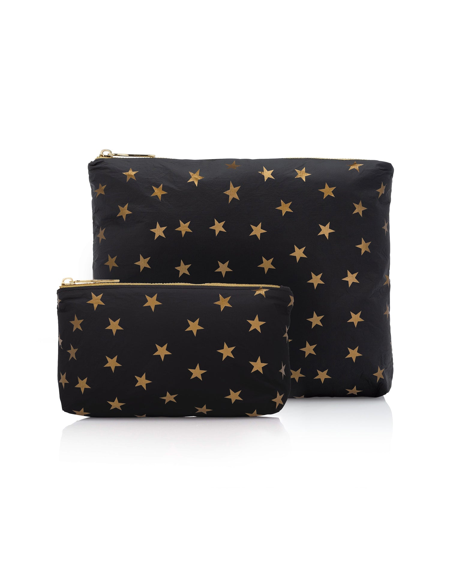 Hi Love's Two-Piece Star Travel Case Set in Black - Product View