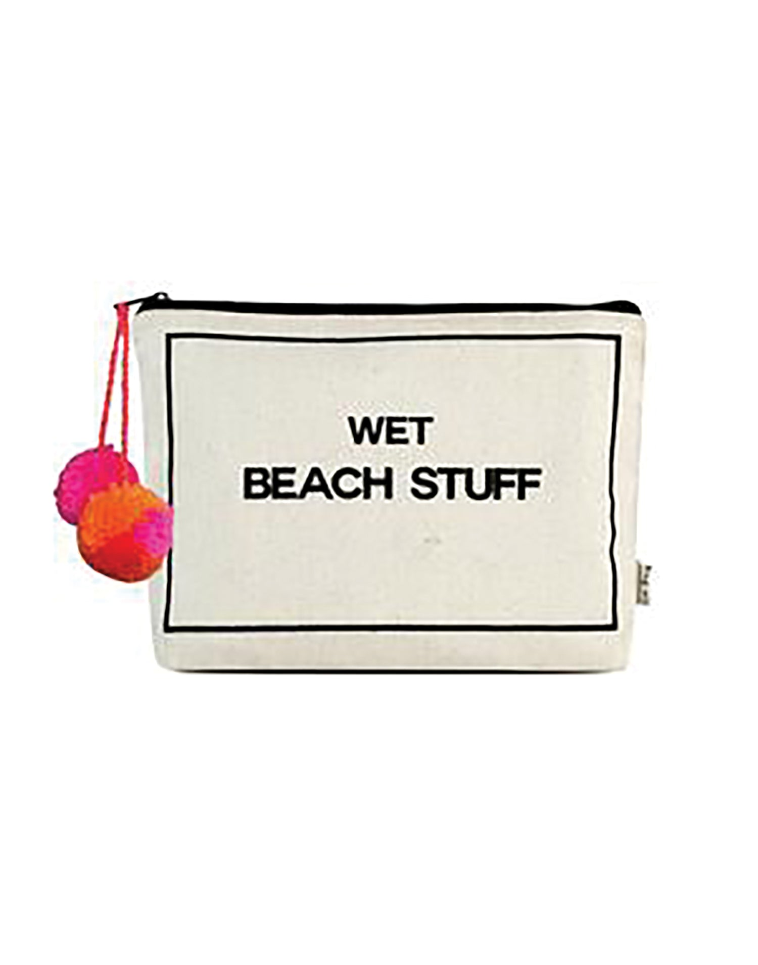 Bag-all's Wet Beach Stuff Bag in White - product view