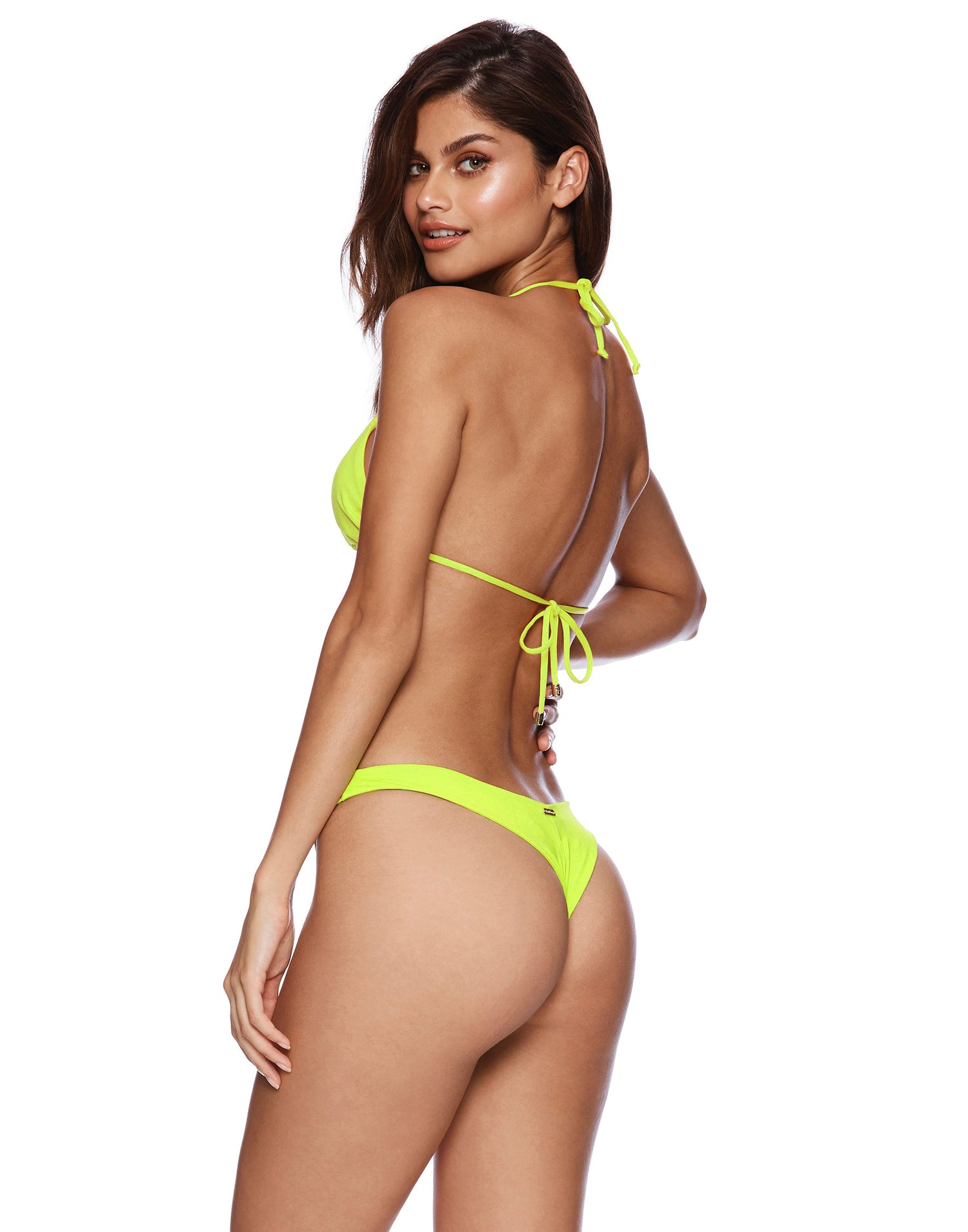 Lime Neon Green Brazilian Bikini Bottom