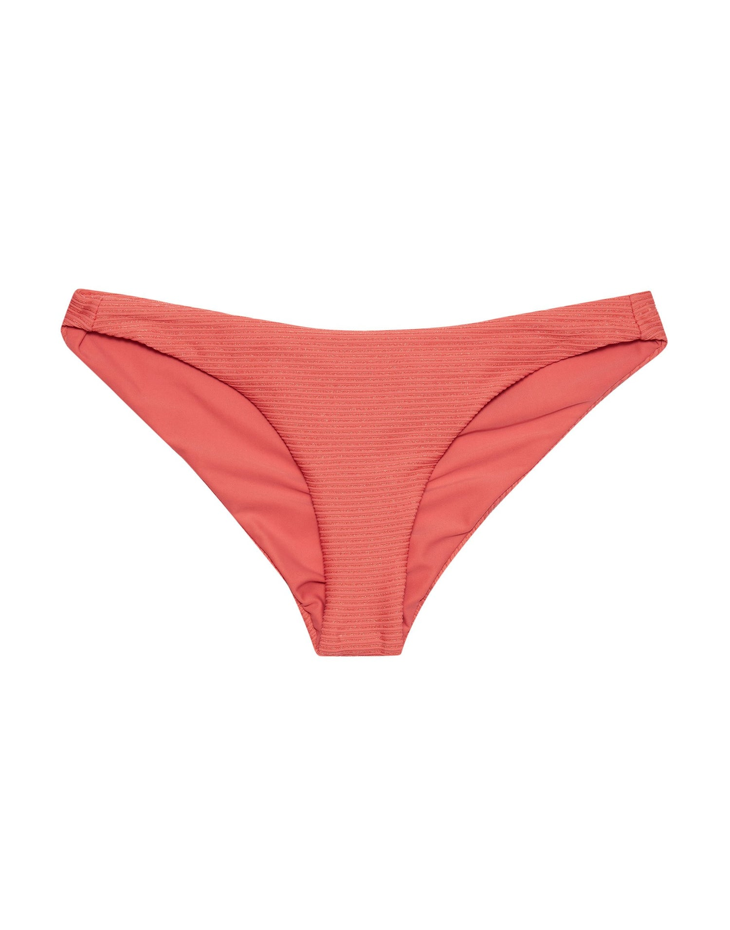 Angela Skimpy Bikini Bottom in Rose Pink Rib - product view