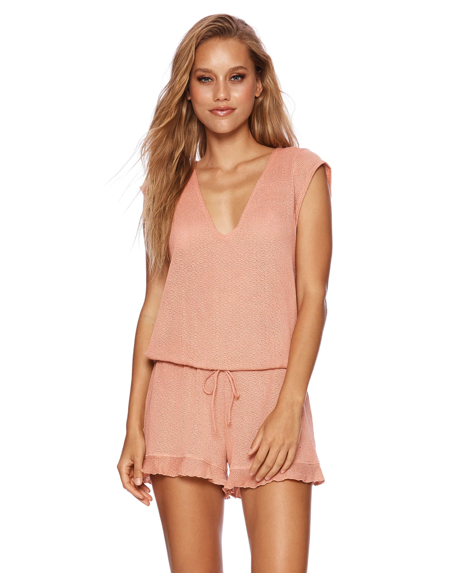Rose Pink Annika Cute Romper for Summer - front view