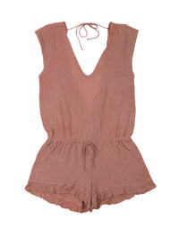 Rose Pink Annika Cute Beach Romper - product view