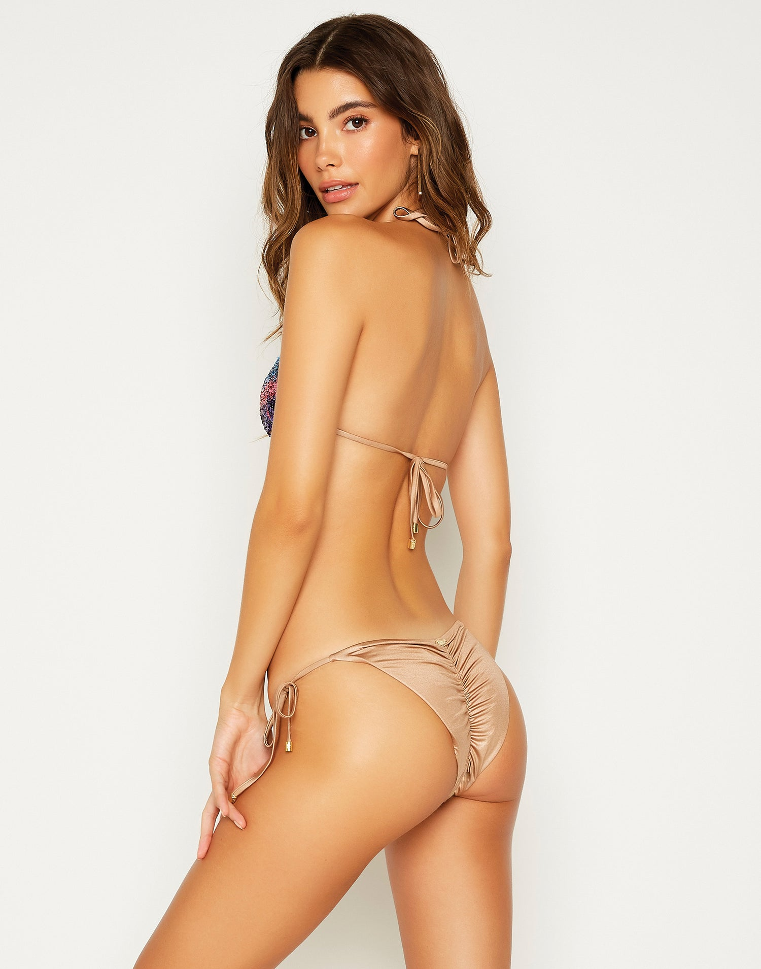 Ariel Triangle Bikini Top in Multi - back view