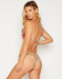 Ariel Triangle Bikini Top in Pink Ombre - back view