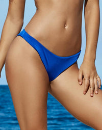 Angela Skimpy Bikini Bottom in Sapphire - Front View