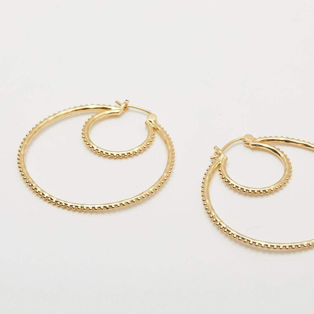 Bali Double Hoop Gold Detail