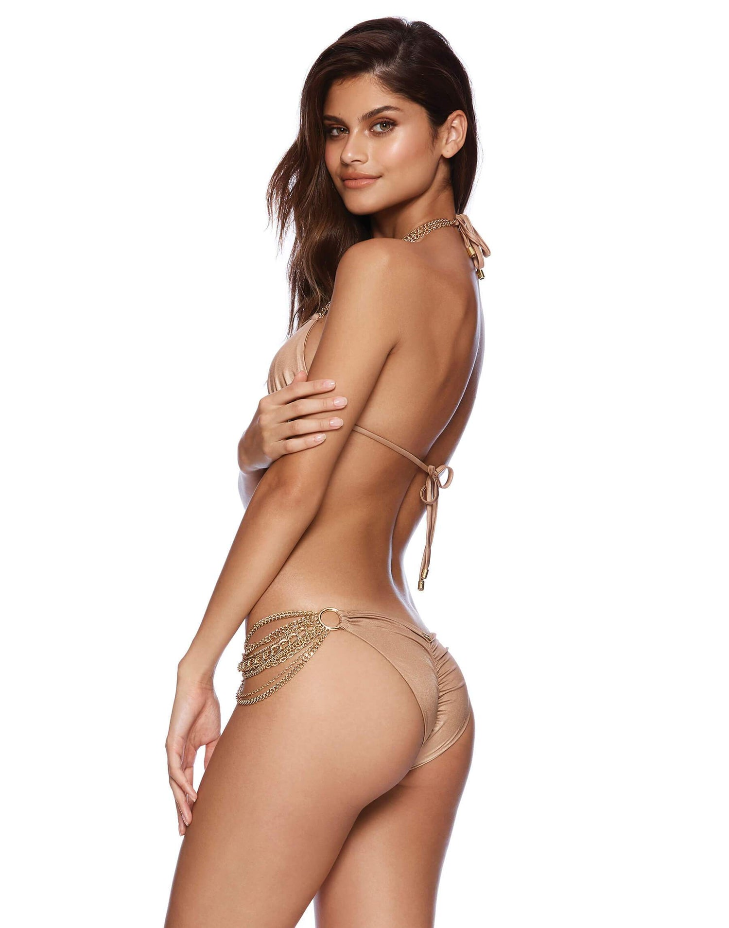 Ball and Chain Skimpy Bikini Bottom in Bronze - side view