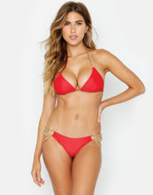 Ball and Chain Triangle Top in Red - Front View