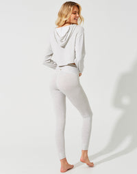 Cameron High Waist Legging in Grey/Cream - back view