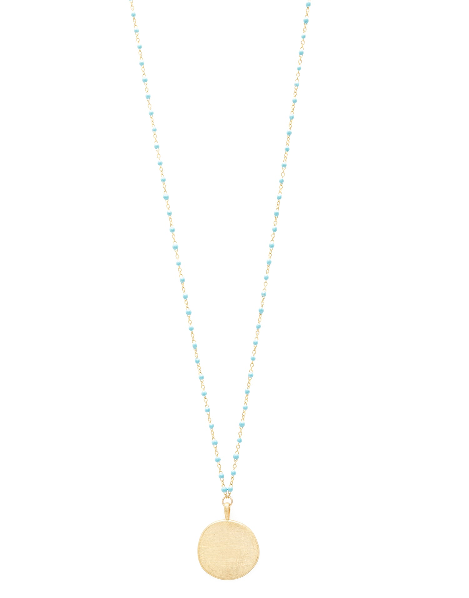 Capri Coin Necklace Front