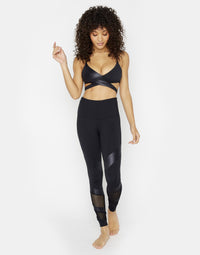 Drew Sports Bra in Black - Cute Workout Wrap Top