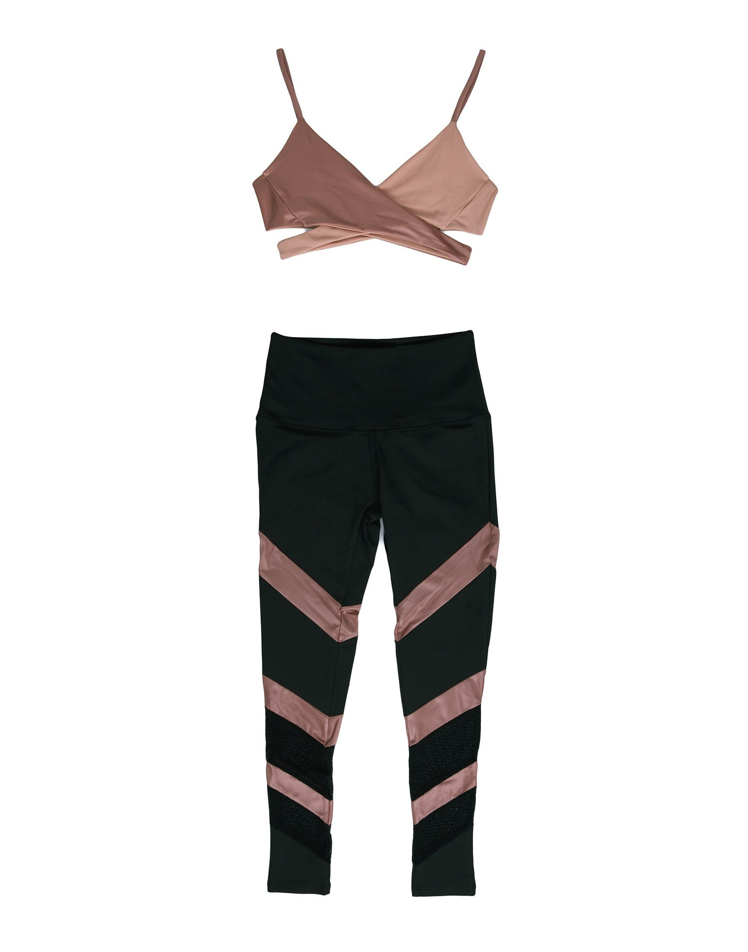 Black and Pink Active Workout Apparel - product view