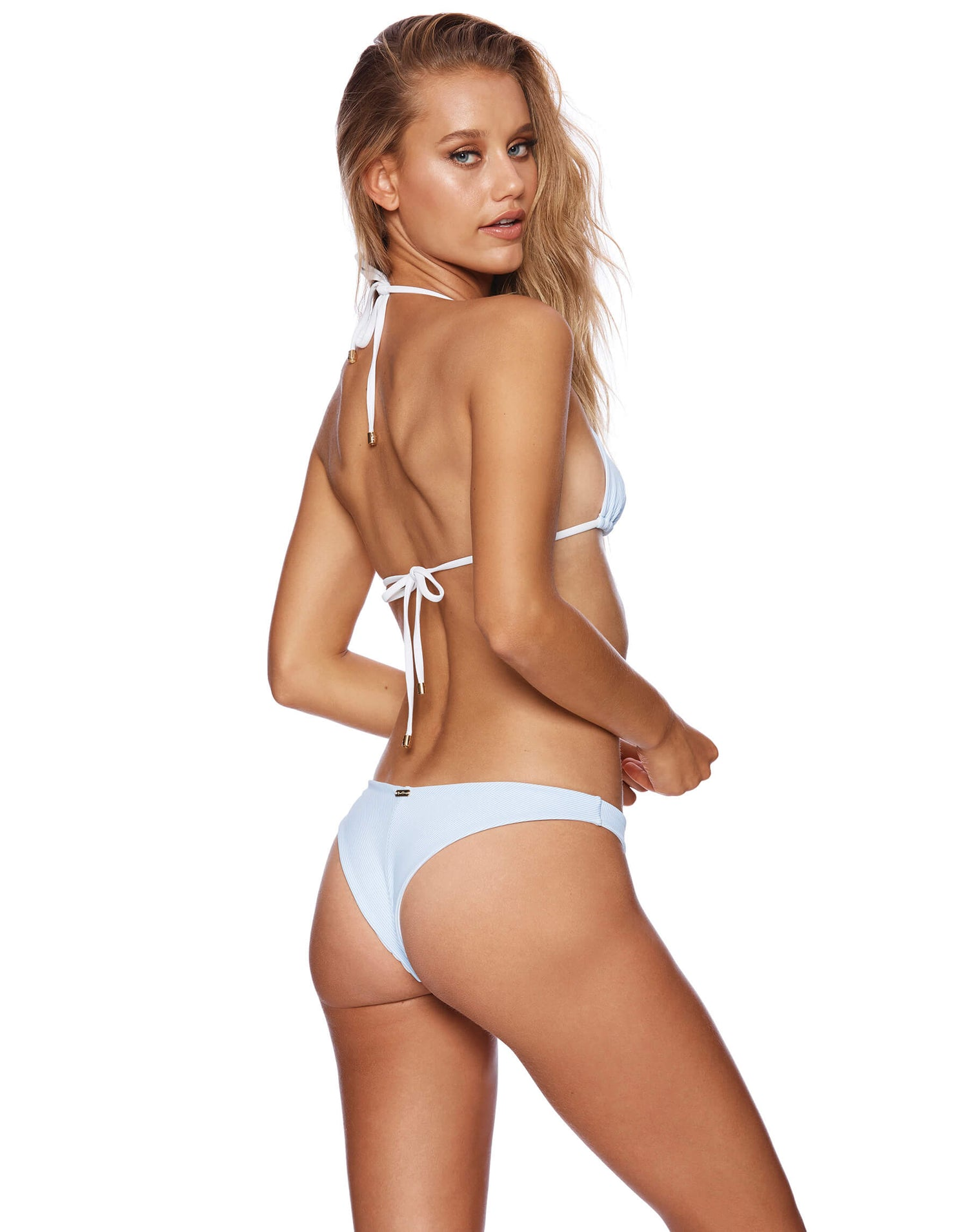 Sydney Brazilian Bikini Bottom in Riviera Stripe - back view